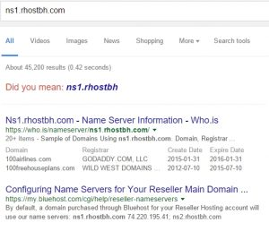 search for nameservers